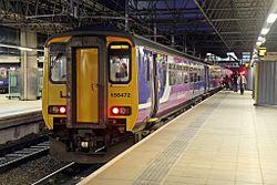 Northern Rail Class 156, 156472, platform 3, Manchester Victoria railway station (geograph 4500574).jpg