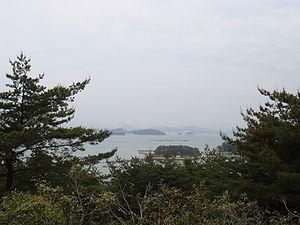 Battle of Noryang - Looking north, sea off Gwaneumpo