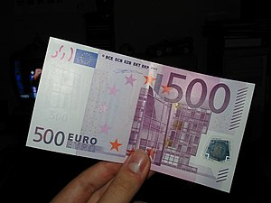 500 euro note - One quarter of all 500 euro notes are recorded in Spain since its launch in 2002.