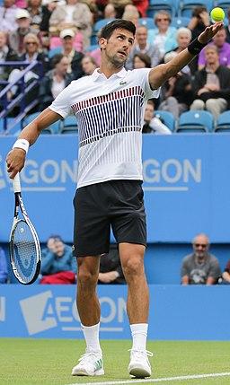 Novak Djokovic Eastbourne tennis 2017 (cropped)
