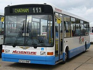 Nu-Venture - Marshall Capital bodied Dennis Dart in March 2008 in Nu-Venture's previous livery