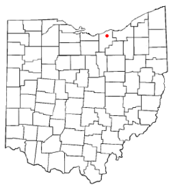 Location of Elyria, Ohio