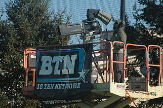 Big Ten Network - A Big Ten Network camera operator at work during a 2011 field hockey game