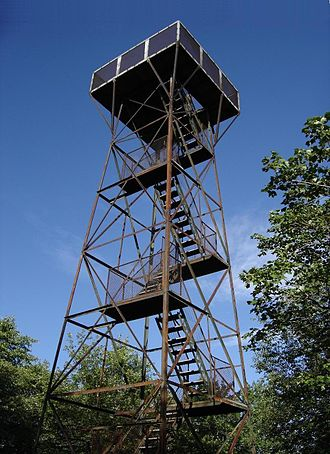 Elk Lick Township, Somerset County, Pennsylvania - Observation tower atop Mount Davis