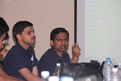 Odia wikipedian mrutyunjaya kar and ansuman giri on 30the march 2014.jpg