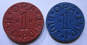 Office of Price Administration - Image: Office of Price Administration tokens World War II