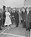 Officiële proefvaart van de s.s. Rotterdam in aanwezigheid van koningin Juliana , Bestanddeelnr 910-6006.jpg