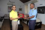 Official call on the Commandant INA by the Commanding Officer INS Satpura, 2017.jpg
