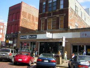 Old Market (Omaha, Nebraska) - Businesses located along Howard street in the Old Market.