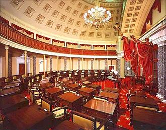 Old Senate Chamber - The restored Old Senate Chamber