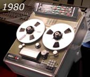Broadcast automation - Solidyne GMS200 tape recorder with computer self-adjustment. Argentina 1980-1990