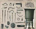 Opgraving Romeinse villa Backerbosch, 1881, bronzen en zilveren voorwerpen.jpg