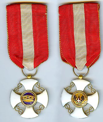 Order of the Crown of Italy - Image: Order of the Crown of Italy Knight medal