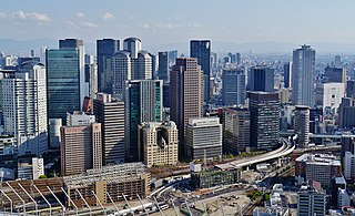 Umeda Business District in Osaka Prefecture, Japan