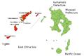 Oshima Subprefecture Kagoshima Map.png