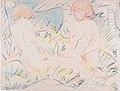 Otto Mueller - Zwei Mädchen, die eine halb im Gras liegend - ca1924.jpeg