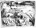 Otto Mueller Badeszene mit vier Figuren Haus und Boot.jpg