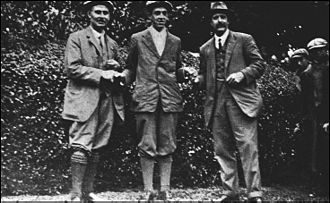 Ted Ray (golfer) - Ray (right) with Harry Vardon (left) and Francis Ouimet