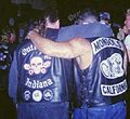 Outlaw motorcycle jacket, showing 'colors', Mongols motorcycle jacket, showing colors.jpg