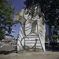 Overzicht van Sylvette, gezandstraald beeld, een betonnen tekening, beeld van Picasso - Rotterdam - 20398889 - RCE.jpg