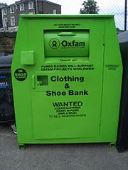 Oxfam clothing and shoe bank