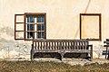 Pörtschach Quellweg 38 Gimplhof Bank an Hauswand 12012020 8054.jpg