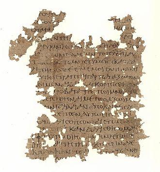 Matthew 26 - Matthew 26:29-35 on Papyrus 53, from 3rd century.
