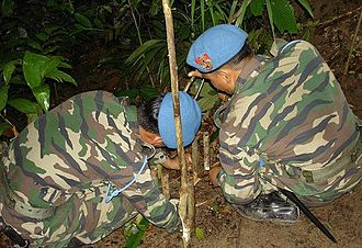 PASKAU - PASKAU commando operatives during survival training in the jungle.
