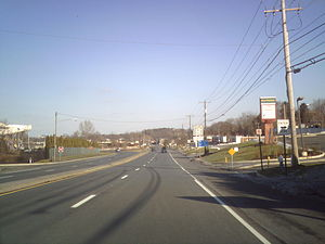 Pennsylvania Route 222 - PA 222 near Dorney Park & Wildwater Kingdom in South Whitehall Township
