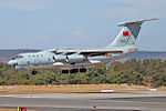 PLAAF Ilyushin Il-76 landing at Perth Airport -2.jpg