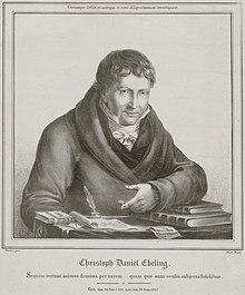 Christoph Daniel Ebeling, Kupferstich von Siegfried Detlev Bendixen (1818) (Quelle: Wikimedia)