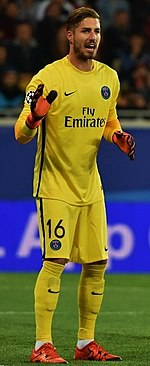 3ddbea94a13 Trapp playing for PSG against Shakhtar Donetsk in 2015