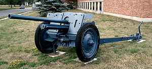 7.62 cm Pak 36(r) - FK 36(r) anti-tank gun, displayed on the grounds of CFB Borden.