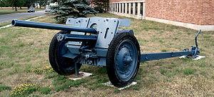 76 mm divisional gun M1936 (F-22) - 7.62 cm PaK 36(r) at CFB Borden.