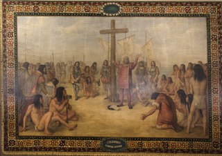 Columbus murals series of twelve murals at the University of Notre Dame