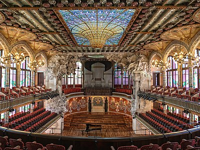 Palace of Catalan Music, in Barcelona