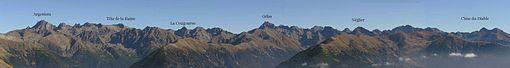 Panorama sulle Alpi Marittime dal versante francese.