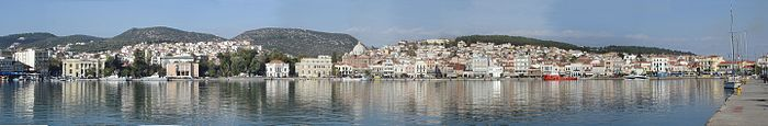 Panorama of Mytilene.