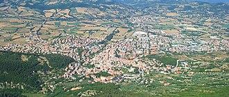 Gualdo Tadino - Panorama of Gualdo Tadino