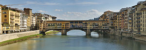 Ponte Vecchio - Image: Panorama of the Ponte Vecchio in Florence, Italy