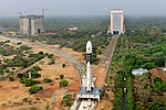 Panoramic View of GSLV-Mk III-D1 being moved to second launch pad.jpg