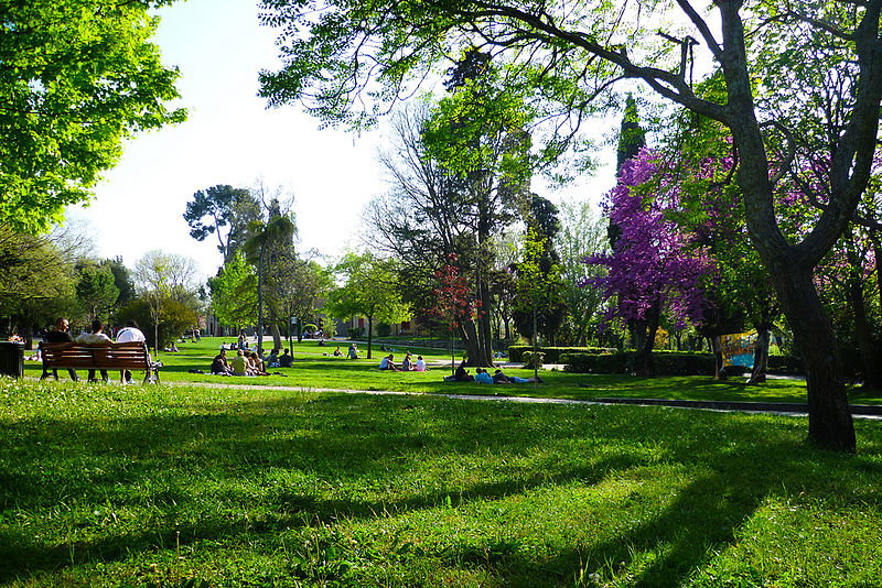 photo du parc jourdan à aix en provence
