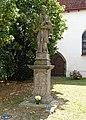 Pardubice, socha Jana Nepomuckého u sv. Jana Křtitele.jpg