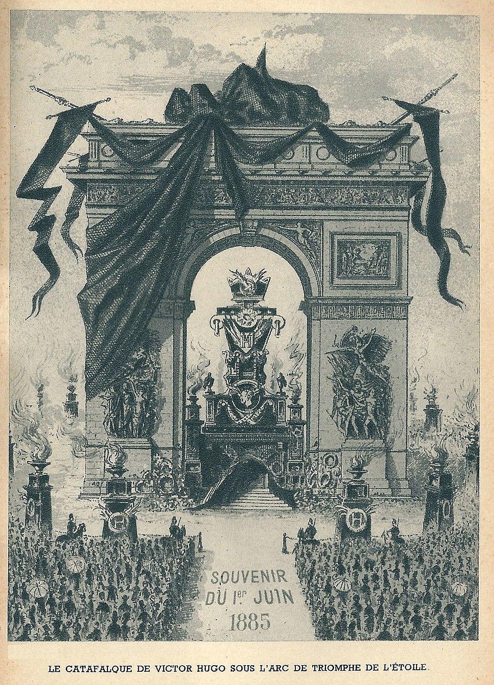 Paris-arc de triomphe-Victor Hugo 1885-14