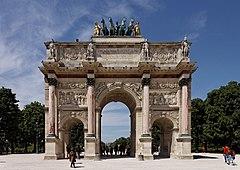 Paris - Jardin des Tuileries - Arc de Triomphe du Carrousel - PA00085992 - 003.jpg