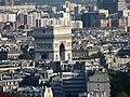 Paris View from the Eiffel Tower second floor Arc de Triomphe de l'Étoile 01a.jpg