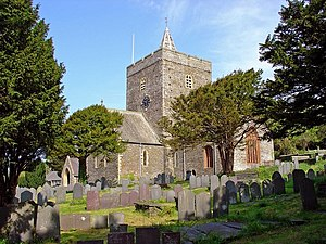 St Padarn's Church, Llanbadarn Fawr - Image: Parish church, Llanbadarn Fawr, from the southeast geograph.org.uk 791249