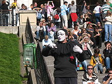 Parisian Mime Crowd.JPG