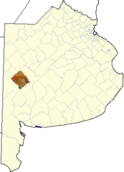 location of Guaminí Partido in Buenos Aires Province