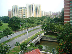 Pasir Ris - Sungei Api Api in a suburb of Pasir Ris